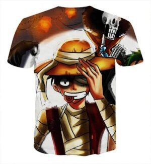 One Piece Anime Injured Monkey D Luffy Cool Stylish T-shirt