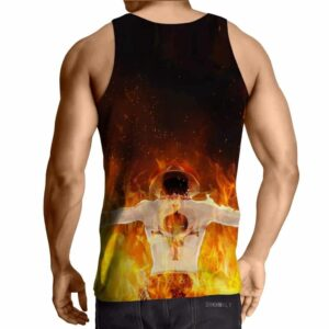One Piece Awesome Ace Fire Fist White Beard Tattoo Tank Top