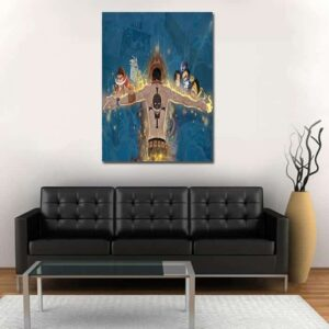 One Piece Characters Ace Back View Portrait With 1pc Canvas