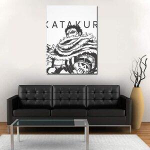 One Piece Charlotte Katakuri Black And White 1pc Wall Art