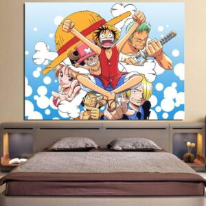 One Piece Complete Straw Hat Pirates Blue 1pc Wall Art Decor