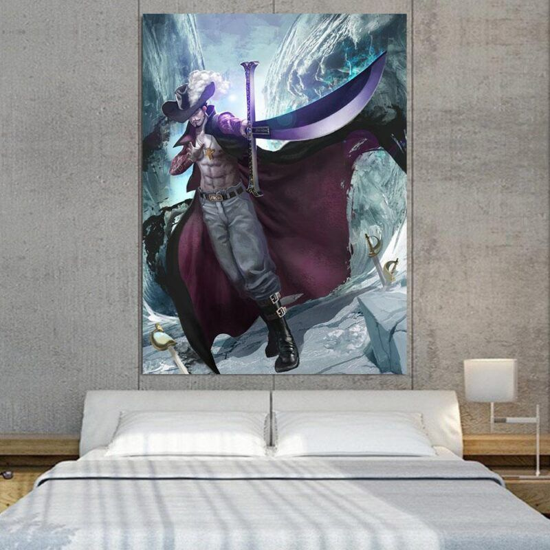 One Piece Dracule Hawk Eyes Mihawk Swordsman 1pc Wall Art