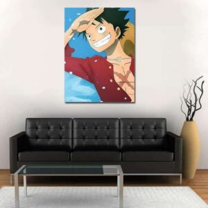 One Piece Excited Straw Hat Luffy Exploration 1pc Wall Art