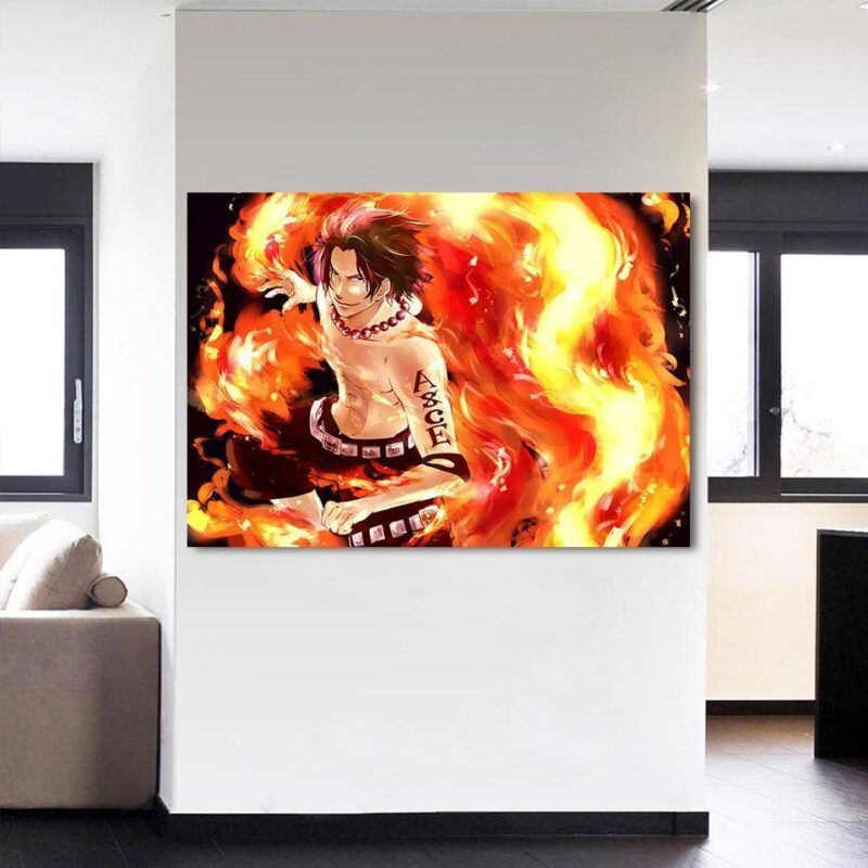 One Piece Handsome Monkey Ace Fire Fist Smiling 1pc Wall Art