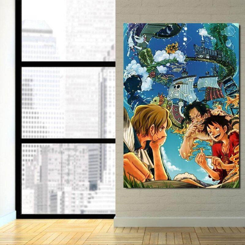 One Piece Luffy Ace Sabo Brotherhood Friendship 1pc Wall Art