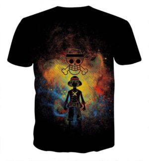 One Piece Luffy Straw Hat Pirate Crew Symbol Skull Tshirt