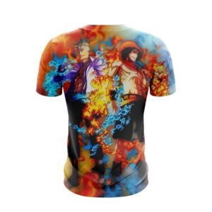 One Piece Marco And Portgas D. Ace Back To Back 3D T-Shirt