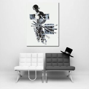 One Piece Pirate Roronoa Zoro Black And White 1pc Wall Art