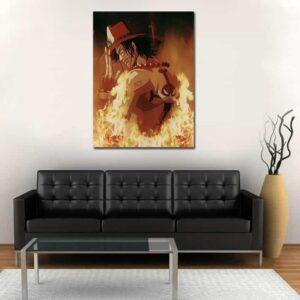 One Piece Portgas D Ace Flame Aura Portrait Orange 1pc Canvas