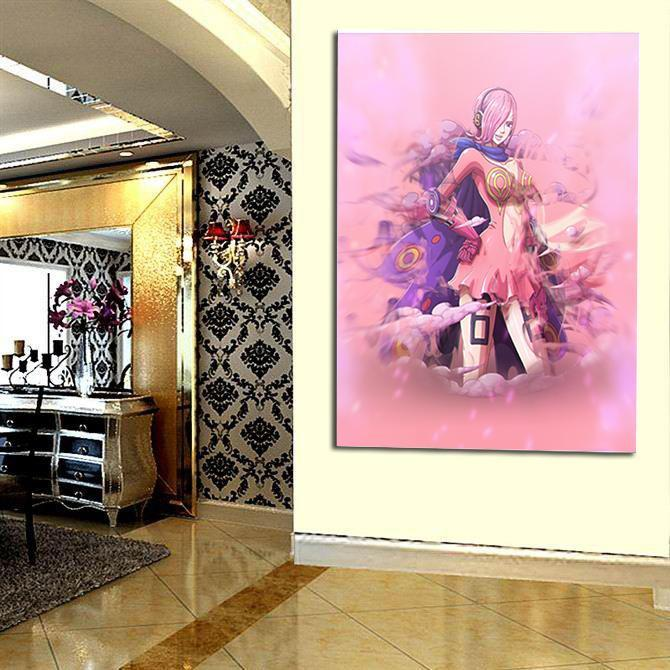 One Piece Vinsmoke Reiju Poison Pink Portrait 1pc Wall Art