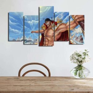 One Piece Whitebeard Broken Glass Effects Blue 5pcs Wall Art
