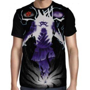 Sasuke Complete Susanoo Deadly Skill Chakra Purple Trendy T-shirt