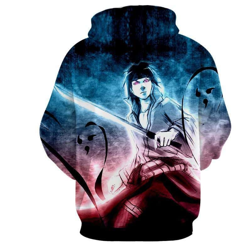 Sasuke Uchiha Powerful Ninja Art Work Printed Dope Hoodie