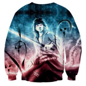 Sasuke Uchiha Powerful Ninja Art Work Printed Sweatshirt