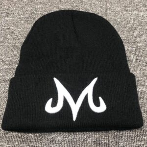 Dragon Ball Z Majin Buu Embroidered Logo Black Knit Beanie