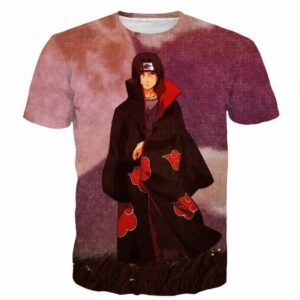 Vintage Isolated Naruto Solitary Walking Itachi Uchiha T-shirt