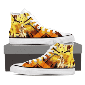 Naruto Sith Path Sage Mode Kurama Fox Awesome Sneakers Shoes