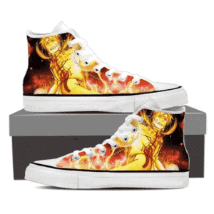Naruto Uzumaki Sage Mode Red Galaxy Orange 3D Sneakers Shoes