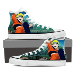 Naruto Kid Anime Fan Art Full Print Trendy 3D Sneakers Shoes