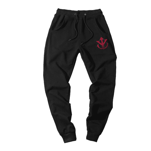 Dragon Ball Z Saiyan Royal Symbol Black Workout Sweatpants