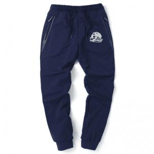 Son Goku & Master Roshi Fun Ocean Surf Navy Blue Sweatpants