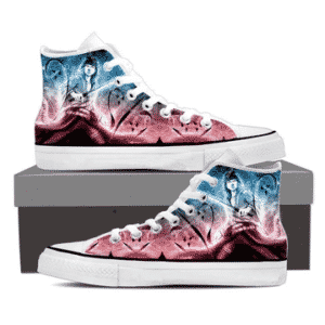 Sasuke Uchiha Powerful Ninja Vibrant Color 3D Sneakers Shoes