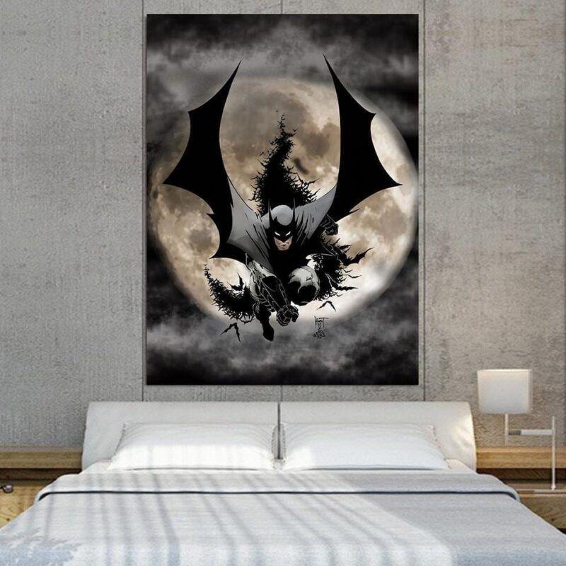 Batman The Dark Knight Ready To Save Full Print 1pc Wall Art Canvas - Superheroes Gears