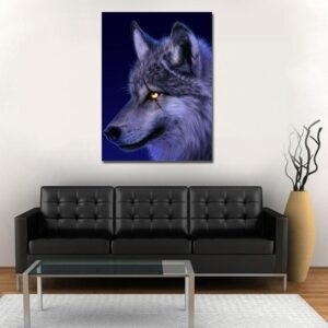 Badass Wolf With A Scar On Eye Stunning 1PC Canvas Print