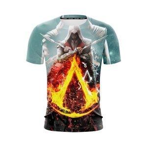 Assassin's Creed Bayek Flaming Symbol Crest Vibrant T-Shirt