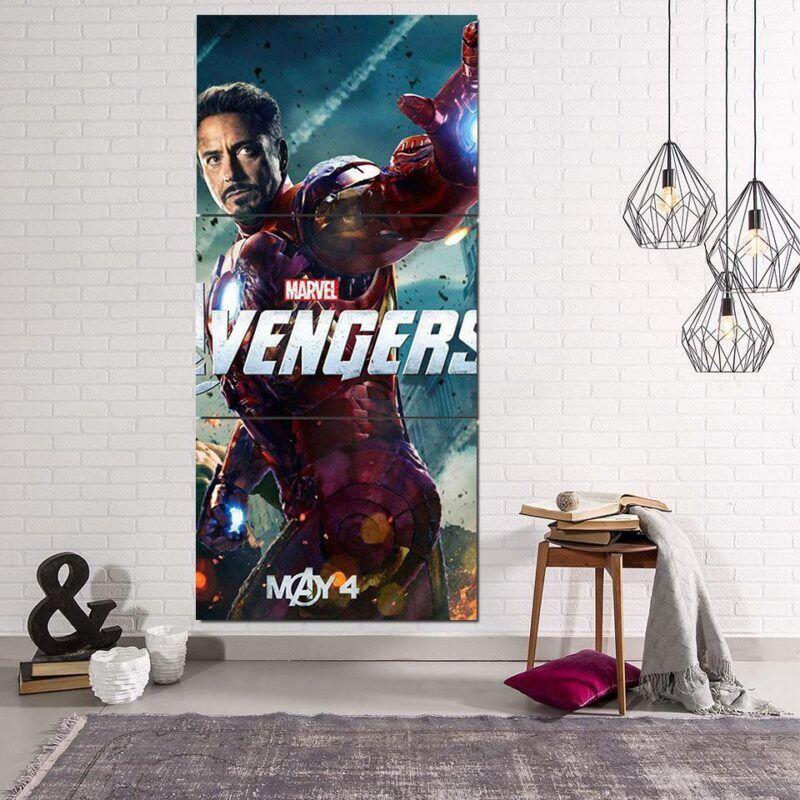 Marvel The Avengers Iron Man Tony Stark 3pcs Canvas Print