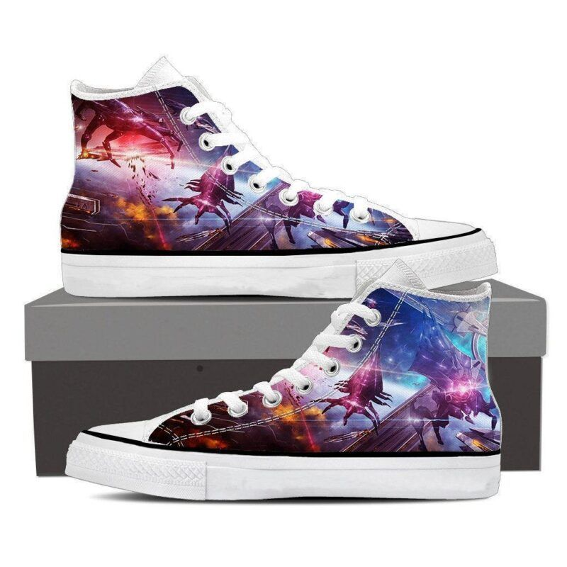 Mass Effect Reaper Battle Spaceship Converse Sneaker Shoes