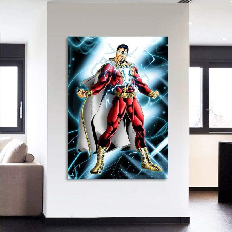 Captain Marvel Electrifying Vertical 1pc Wall Art Canvas Print