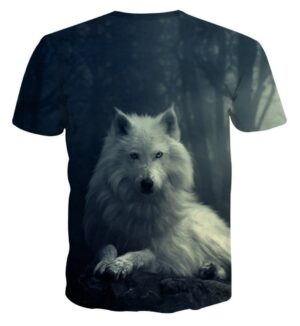 Arctic Lone Wolf Animal Theme Full Print Cool Vibe T-Shirt - Superheroes Gears