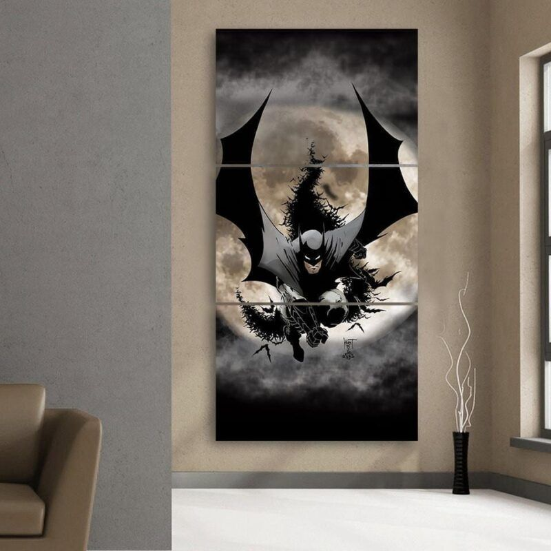 Batman The Dark Knight Ready To Save 3pcs Canvas Vertical - Superheroes Gears