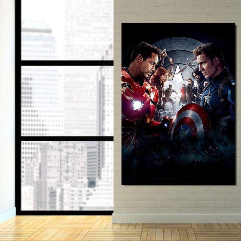 Marvel The Avengers Civil War Main Characters Swag 1pcs Wall Art
