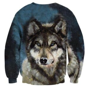 Incredible Wolf Painting Style Design Unique Sweatshirt