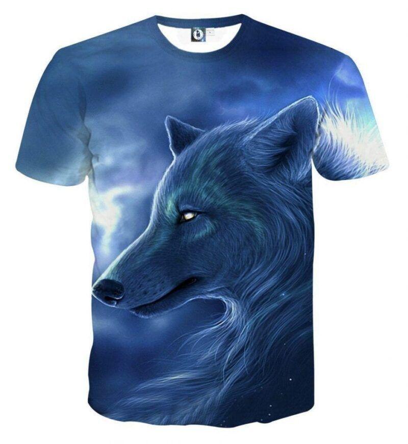 Fantasy Wolf Animal Lover Style Streetwear Design T-Shirt - Superheroes Gears