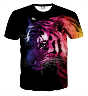 Amazing Ready To Attack  Fierce Tiger Stylish Black T-Shirt
