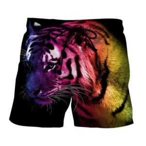 Amazing Ready To Attack Fierce Tiger Stylish Boardshorts