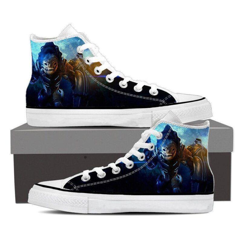 Mass Effect Urdnot Wrex Battlemaster Converse Sneaker Shoes
