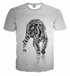 Impressive Minimalist Design Of Fierce Tiger Fashion T-Shirt