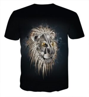 Armored Lion Warrior Impressive Design Streetwear T-Shirt - Superheroes Gears