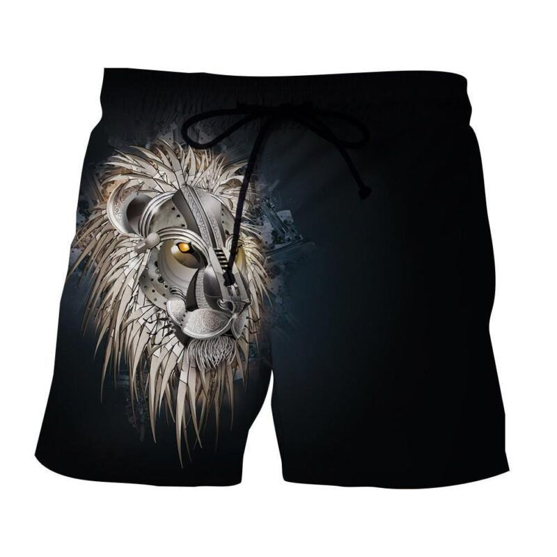 Armored Lion Warrior Impressive Design Streetwear Shorts - Superheroes Gears