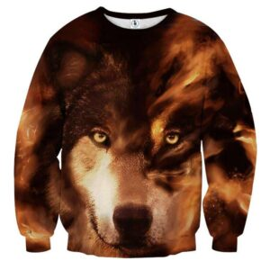 Intimidating Lobo Wolf Impressive Look Artwear Sweatshirt