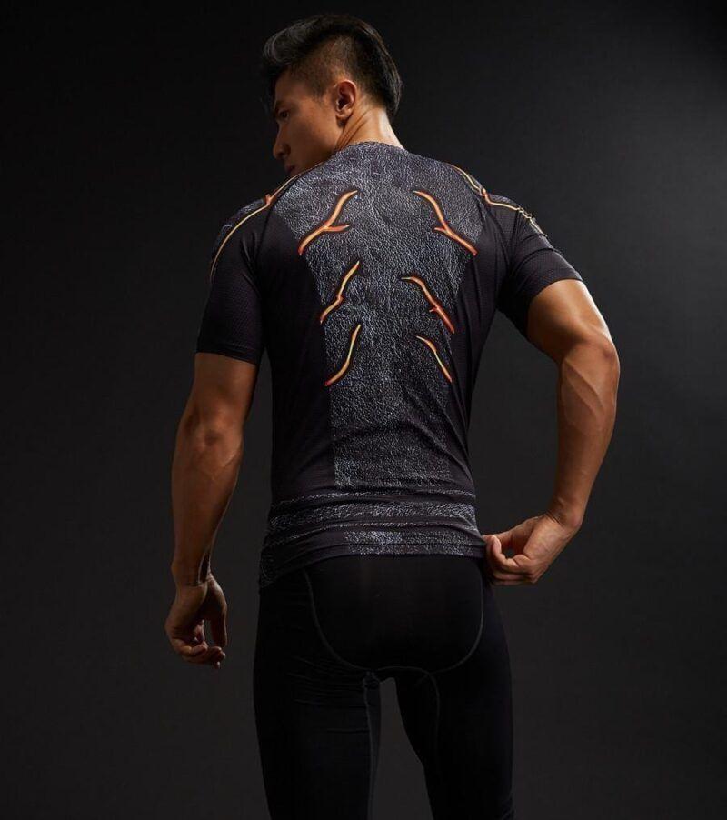 3D DC Superheroes Flash Compression Gym Costume Training T-shirt - Superheroes Gears