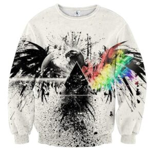 Black and Colorful Wings Eagle Dope Design Sweatshirt - Superheroes Gears