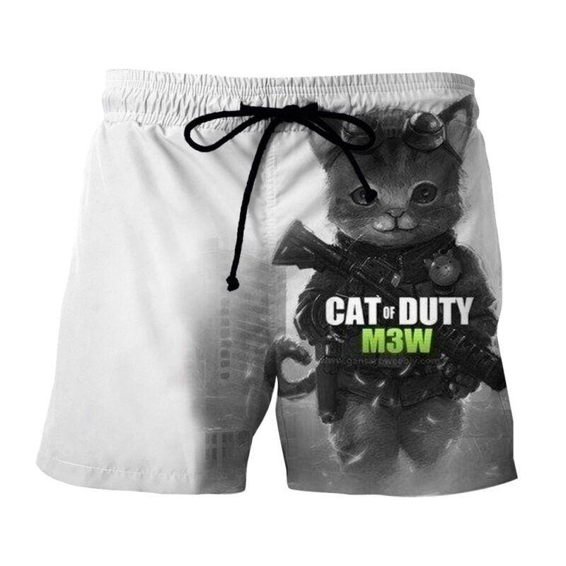 Call of Duty Cat Parody Version Cute Fan Art Shorts - Superheroes Gears