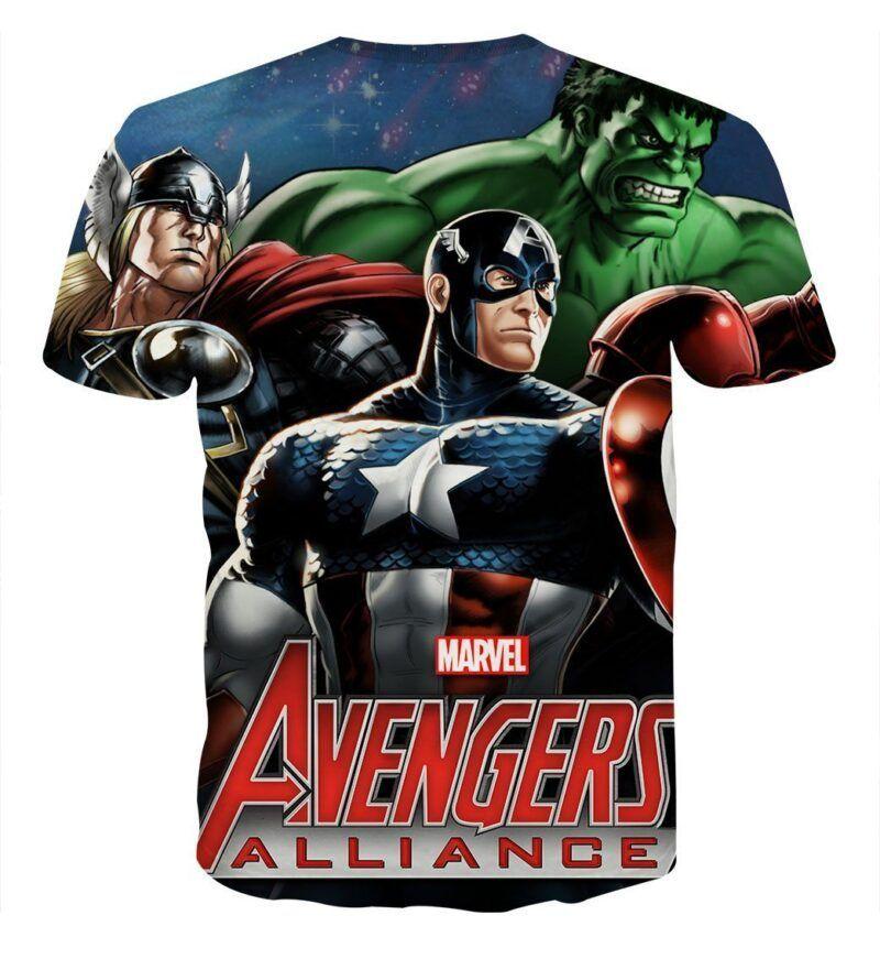 Marvel The Avengers Captain America Dope 3D Print T-shirt