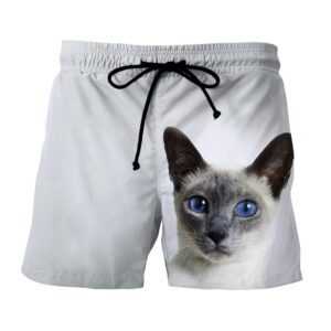 Blue Eye Cat Capturing Simple Art Design Dope Shorts - Superheroes Gears