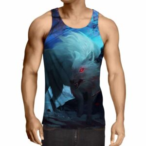 Angry Red Eyed Wolf Vibrant Stylish Design Tank Top